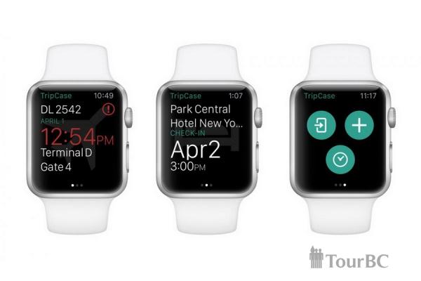 Apple Watch как дополнение для TripCase